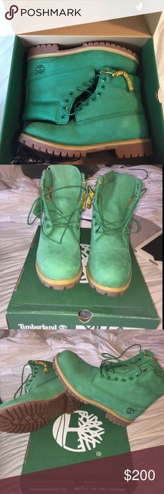 BRAND NEW Mens timberland boots!! Never worn. Comes with box. These are rare & special edition men's timberland boots!! RU VILLA EXCLUSIVE! Timberland Shoes