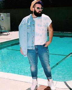 Profession : Plus Size Male Model - Mannequin homme grande taille - Troy Solomon Mens Plus Size Fashion, Large Men Fashion, Urban Fashion, Fashion Fashion, Latex Fashion, Gothic Fashion, Fashion Models, Fashion Outfits, Plus Size Men