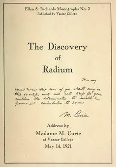 Marie Curie tells how she discovered radium - a scientific breakthrough - Click Americana Marie Curie Scientist, Radium Girls, World Thinking Day, Marie Curie Radioactivity, Science And Technology, Chemistry, Physics, Advance Directives, Medicine