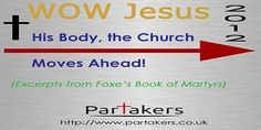 "Today on Partakers we continue our series ""Church Moves Ahead""! Come hear and download audio about the history of the early church, and in particular its persecution. We are taking brief excerpts from an ancient book, Foxes Book of Martyrs. ""there were many thousands of them Christ-followers daily put to death, of which none did any thing contrary to the Roman laws worthy of persecution."" http://davegroberts.podbean.com/2012/07/14/church-moves-ahead-04/"