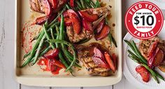 Grilled Pork Chops with Caramelized Plum Vinaigrette and Green Beans