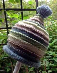 So Special Hand Knit Baby Boy Hat Stripes  by HollyLaneBabyHats, $36.00 I like the texture