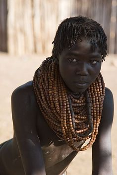 Young woman from the Nyangatom Tribe, South Ethiopia, Africa