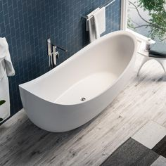 The Hialeah is the epitome of style. This sculpted Freestanding Bathtub will be the centerpiece for any modern bathroom. The smooth curved exterior and interior works great with both transitional and modern bathrooms alike. You will lose yourself in the comforting curve of the high, angled back while being shrouded in warm water. Our high-quality acrylic construction is both strong and light. The exceptional insulation allows this tub to stay warmer longer than other tub materials. The…
