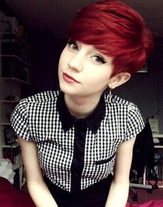 Pixie Haircuts 2014: Girls Short Hairstyles with Side Bangs