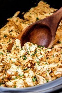 Slow Cooker Fiesta Ranch Cream Cheese Chicken is wonderfully creamy, seasoned to perfection and is as easy as dump and run! Perfect for tacos, burritos etc.