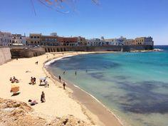 Gallipoli, vista sulla spiaggia della Città Vecchia