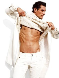 David Gandy. If you pull down the Cable Knit Sweater...The Outfit Including Him is Gorgeous!