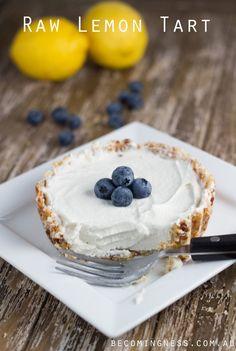 Raw Lemon Tart #glutenfree #pies