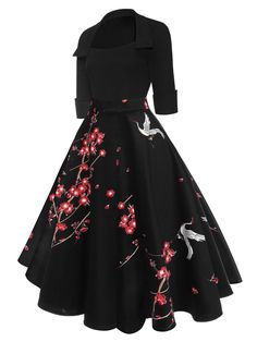 Floral Patchwork Dress - - Floral Print Patchwork Swing Dress – Retro Stage – Chic Vintage Dresses and Accessories Source by christmasbella Pretty Outfits, Pretty Dresses, Beautiful Dresses, Amazing Dresses, Robe Swing, Swing Dress, Stylish Dresses, Fashion Dresses, Modest Dresses