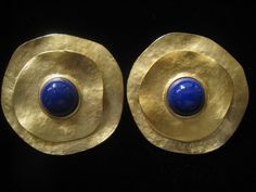 Vtg. HUGE 1980's Runway Size Earrings in Matte by JewelryCapers
