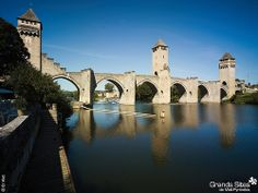 Valentre Bridge - This medieval fortified bridge crossing the Lot River is themost important icon of Cahors.