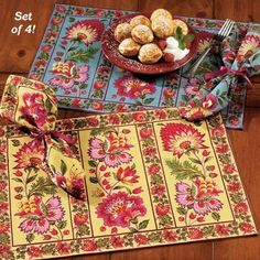 Set of Placemats  Napkins - Yellow -- Announcing the Fresh Finds Repin It To Win It Giveaway! Repin the items that you love from our contest board by May 20th for a chance to win one of them. View the board description for full details!