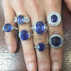 which is your fav no heat sapphire rings sapphire bluesday