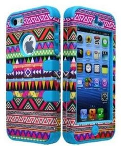 Hybrid Case For Apple iPhone 5 5G - Blue Silicone / Aztec Tribal Hard Free Wristband Accessory - Cellphone Trendz (TM) --- http://www.amazon.com/Hybrid-Case-For-Apple-iPhone/dp/B00D91WFYQ/ref=sr_1_8/?tag=affpicntip-20