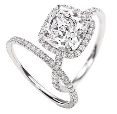 Gorgeous cushion cut diamond - pave set band - Andrew Mazzone Jewellers - Adelaide So beautiful