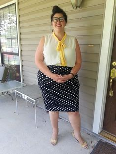 Style Essential Skirt in Dots - Plus Size | Mod Retro Vintage Skirts | ModCloth.com