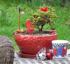 Decorating Your Miniature Garden for the Holidays – The Mini Garden Guru Christmas Garden, Miniature Christmas, Wine Bottle Tiki Torch, Patio Kits, Garden Frogs, Fairies Garden, Christmas Fireplace, Christmas Wood, Indoor Christmas Decorations