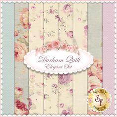 Durham Quilt 8 FQ Set - Elegant Set for Lecien Fabrics: Durham Quilt is a collection for Lecien Fabrics. 100% cotton. This set contains 8 fat quarters, each measuring approximately 18