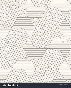Vector Seamless Pattern. Modern Stylish Texture. Repeating Geometric Tiles. Linear Grid With Striped Rhombuses Which Form Hexagonal Stars - 244867228 : Shutterstock