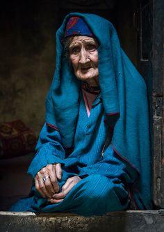 Portrait of an old afghan woman . Badakhshan province . Afghanistan
