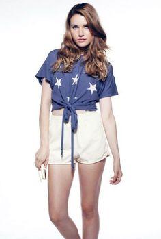 Wildfox Starshine Cowgirl Tee in Dusty Navy   @ashleesloves.com  #wildfox