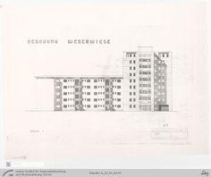 Hermann Henselmann, Entwurf; Hochhaus an der Weberwiese, 1951