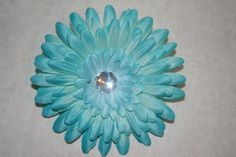 Blue Flower Hair Clip by MariasBowTique on Etsy, $2.50