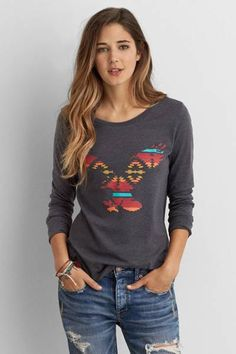 AEO Favorite Graphic T  by AEO   Southwest-inspired graphics perfect for layering, designed for all excursions.  Shop the AEO Favorite Graphic T  and check out more at AE.com.