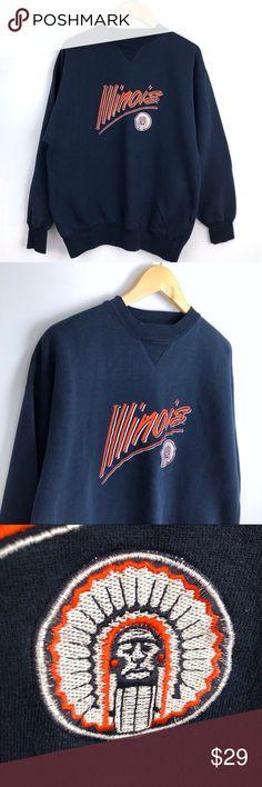 0ae5879236c University of Illinois Chief Illiniwek Sweatshirt Vintage University of  Illinois Chief Illiniwek Sweatshirt. Men s size