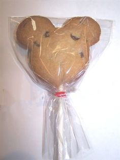 Mickey Mouse Cookie Pops (12) chocolate chip large