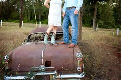 Engagement Boots Rusty Car
