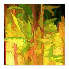 Watercolor Bamboo II Shower Curtain  Shower Curtains  Tropical Design Studio