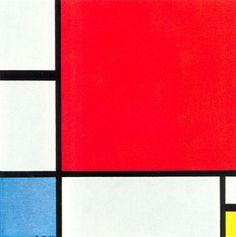 Dit is een geometrische compositie omdat, er alleen maar rechte lijnen en geometrische vormen in zitten.