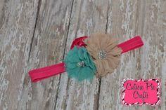Vintage color pop flower headband  pearl  by CutesiePieCrafts, $8.00 #headband #cutesiepiecrafts  #vintage #flowerheadband #flower www.facebook.com/cutesiepiecrafts  www.Etsy.com/shop/cutesiepiecrafts