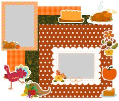 Download this Thanksgiving Dinner Scrapbooking Kit and other free printables from MyScrapNook.com