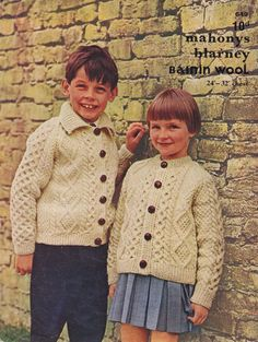 Boys Girls Knitting Pattern for jackets or cardigans knit in a Diamond and Honey Comb stitches. This pattern is available, in PDF format, at Vintage Knit Crochet Pattern Shop Crochet Cardigan, Knit Crochet, Yarn Weight Chart, Aran Knitting Patterns, Crochet Patterns, The Cardigans, Irish Fashion, Knitting Magazine, Knitting For Kids