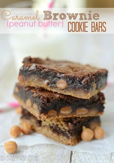 Caramel Brownie Peanut Butter Cookie Bars | crazyforcrust.com | The ultimate comfort food! #brownie #cookie #caramel