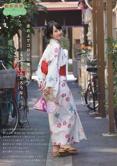 The beautiful and talented SKE48 member Rena Matsui in summer kimono.  Most of the radiant energy here is not from the sunshine in the background  ... it comes from Rena-chan : )  DS.