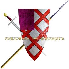 Guillaume de Kergariou. This knight took the Cross in 1248 to join the sixth crusade and who's arms are shown in the Salles des Croisades in the Palace of Versailles.