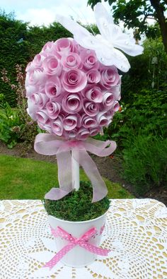 Make the roses like this: http://www.cutoutandkeep.net/projects/rolled-paper-flower