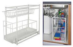 Under Sink Storage Rack Kitchen Unit Bathroom Cupboard Tidy 2 Tier Organiser in Home, Furniture & DIY, Storage Solutions, Storage Units | eBay