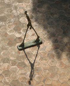 Giacometti Shadow by Liz Nealon, via Flickr (Maeght Foundation, Saint-Paul-de-Vence, France)