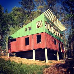 Shipping container home with the help of Hewn