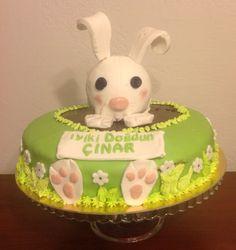 Çınar'a yaptığım doğum günü pastası..