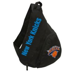 NBA New York Knicks Slingback Backpack by Concept 1. $19.99. Interior laptop compartment.. 600D main body fabric.. Cell phone pocket on backstrap.. Front pocket organizer.. Screenprinted wordmark logo and felt applique logo.. The slingback is a great cross-body backpack that provides the capacity to store your laptop and take it anywhere with you comfortably.