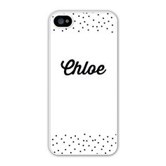 We love the Hello iPhone case! A sprinkling of dots makes this personalized iPhone case chic and stylish.
