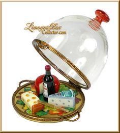 Cheese Wine Platter under Glass (Beauchamp)