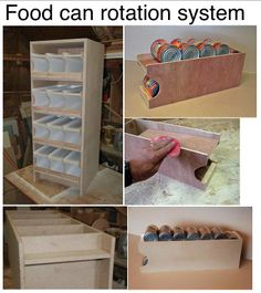 Food can rotation system