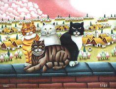 I gatti di Cristina Franco Conti (Pittore Naif)